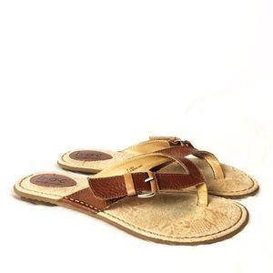 Born Leather Comfort Flip Flops